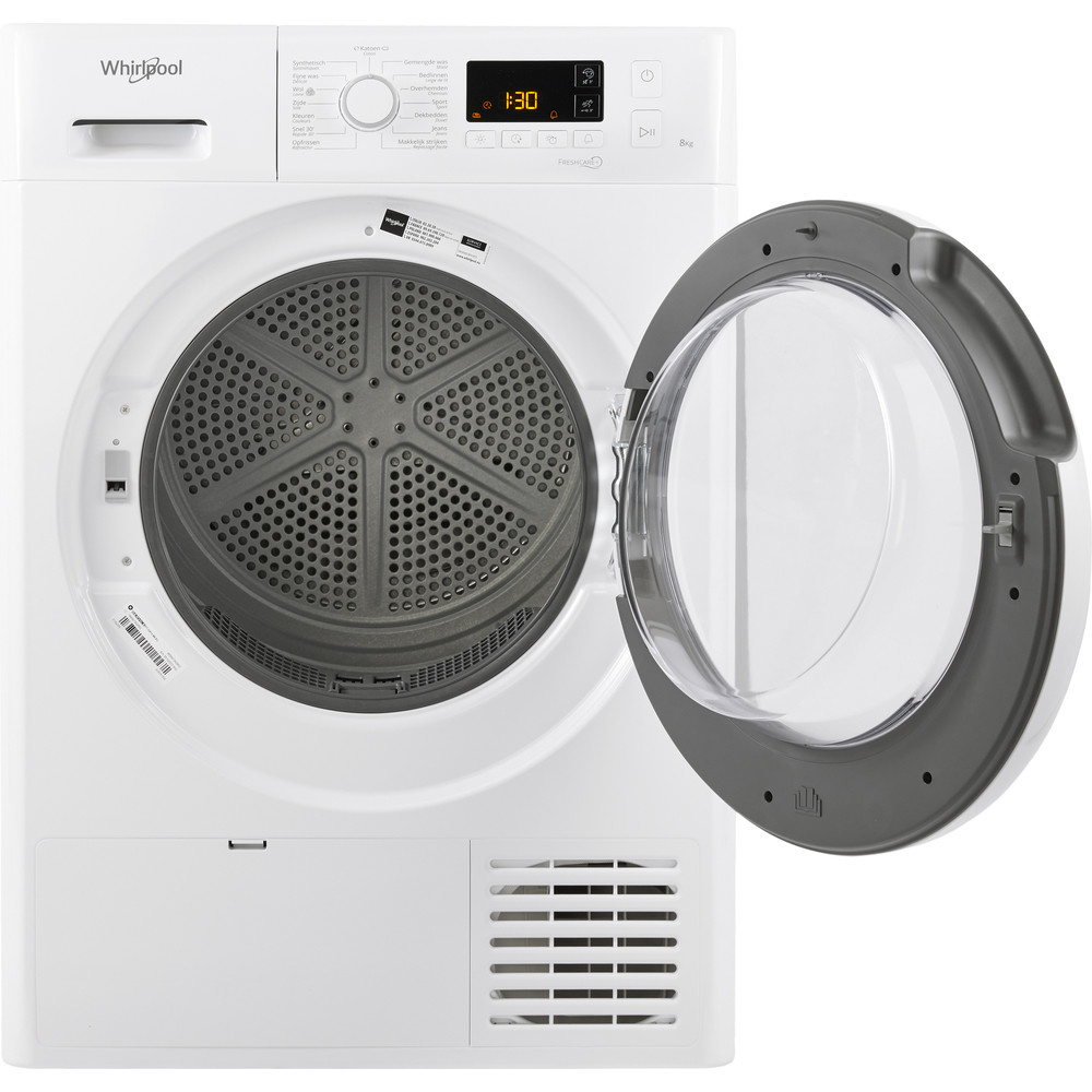 Whirlpool Whirlpool FTBEM118X2 - Warmtepompdroger Droger A++ - 8KG - Zeer STIL - FreshCare+