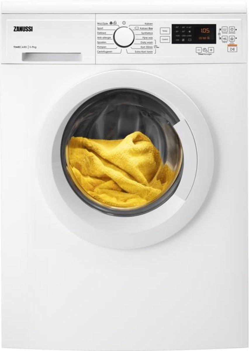 ZANNUSSI Zanussi ZWFN7145 wasmachine A+++, 7kg, 1400 rpm, TimeCare, Display, Startuitstel, Soft trommel, Dubbelwandige toevoerslang