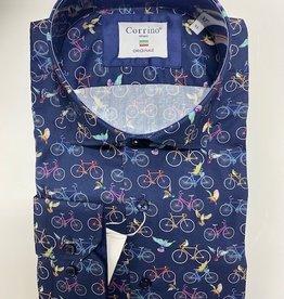 corrino Overhemd (Fiets Desen)