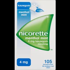 Nicorette Nicotine Kauwgom Menthol Mint 4mg 105 stuks