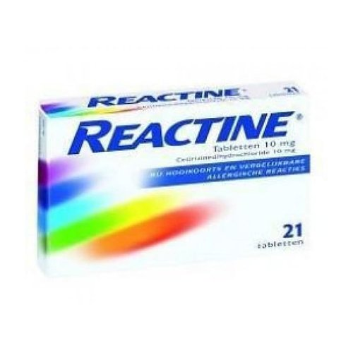 Reactine Cetirizine 10mg antihooikoorts 21 tabletten