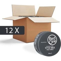 Red One Wax Zwart Gel Haarwax - Voordeelpakket -12 stuks