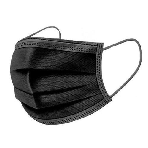 Mondkapje Wegwerpmaskers / Mondkapjes 3-Laag - Zwart - 50 Stuks
