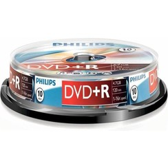 Philips DR4S6B10F - DVD+R - 4,7GB - Speed 16x - Spindle - 10 stuks