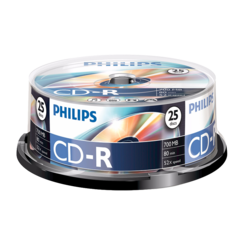 Philips 25CDR 80M 700MB 52xCB 4632