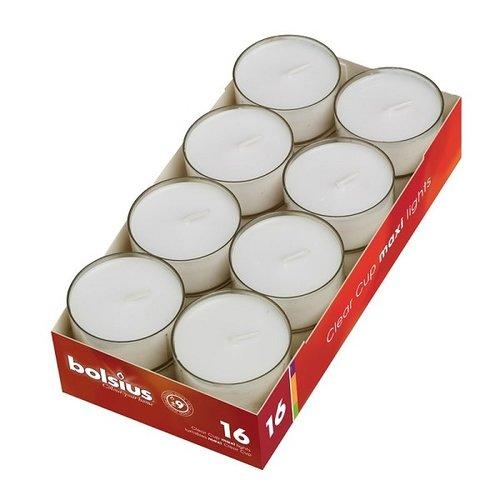 Bolsius Bolsius Maxi licht in transparant cup 9uurs doos a 16 stuks