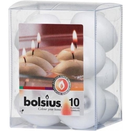 Bolsius Bolsius Drijfkaarsen - 10 stuks - Wit