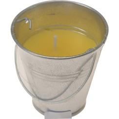 Citronellakaars in zinken emmertje 6x6,5cm