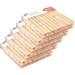 Ibex wasknijpers hout 5 pak van 48 stuks