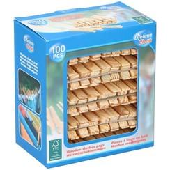Wasknijpers hout doos a 100 stuks