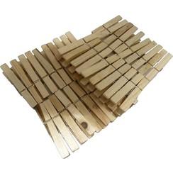 Wasknijpers hout pak a 50 stuks