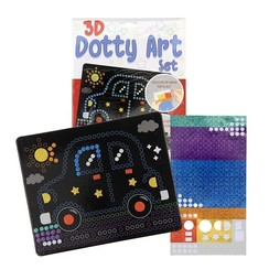 3D Dotty art set stippen knutselset 26x20cm