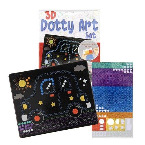 3D Dotty art set stippen knutselset 26x20cm