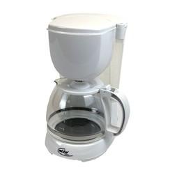 Elta Koffiezetapparaat 10-kops 1,25L 750W wit met glazen kan