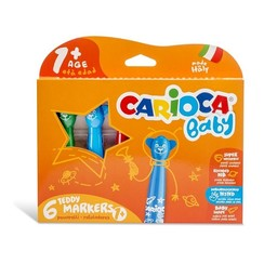 Carioca baby teddy 6 viltstiften (vanaf 1 jaar)