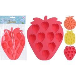 IJsblokjesmaker fruitvorm siliconen 19x16cm