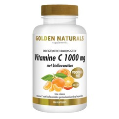 Golden Naturals Vitamine C1000 met Bioflavonoiden 180 tabletten