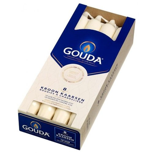 Gouda Gouda Kroonkaars ivoor 240/24 8 stuks