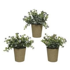 Kunstplant in pot Ø21--H15cm