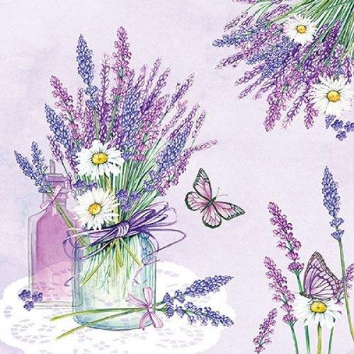 Ambiente Servetten 33x33cm Lavender Jar Lilac 20 stuks