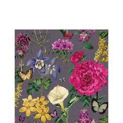 Ambiente Servetten 33x33cm Botanical Florals Grey 20 stuks