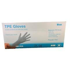 TPE Wegwerphandschoenen latex vrij 100 stuks maat S blauw