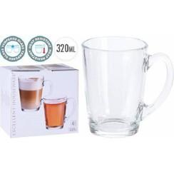 Koffie/theeglazenset 4-delig Ø8x11,5cm 320ml