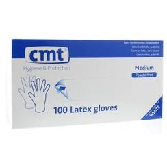 CMT Onderzoekshandschoen latex naturel poedervrij M 100st