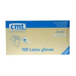 CMT Onderzoekshandschoen latex naturel gepoederd S- 100st