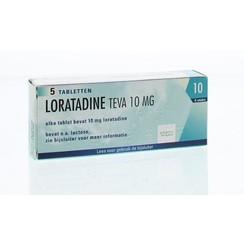 Teva Loratadine 10 mg 5 tabletten