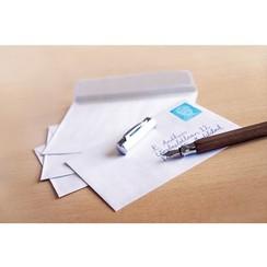 Raadhuis Enveloppen 114x162 C6 dienst plakstrip wit 80gr 25st