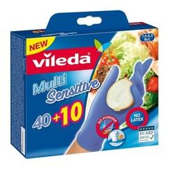 Vileda Handschoenen MultiSensitive M/L - 50 stuks -100% nitrile