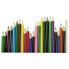 Ronde kleurpotloden 17,5cm pak a 24 kleuren