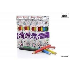 6 kleurpotloden klein in doosje