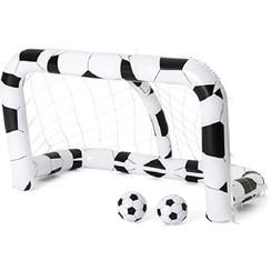 Bestway opblaasbaar voetbaldoel 213x117x125cm incl. 2 ballen