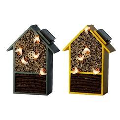 Solar insectenhuis hout B23-H31cm-5L Warm wit