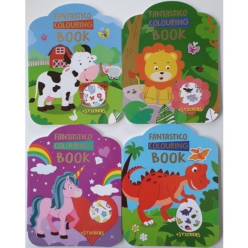 Fantastico Dino kleurboek met stickers 24blz