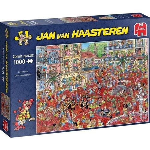 Jumbo Jan van Haasteren puzzel La Tomatina 1000 stukjes