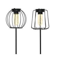 Lumineo LED solar lantaarn op steker Ø13cm. hoogte 49 cm.