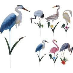 Tuinprikker vogel metaal op stok 40x1x100cm