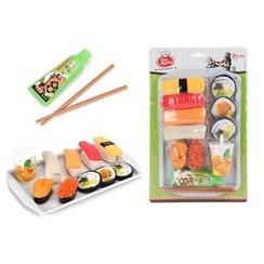 Toi Toys Food market speelset Sushi - eetstokjes+dienblad+saus