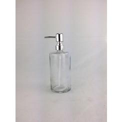 Zeepdispenser glas 400ml Ø7,5x19,5cm