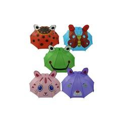 Kinderparaplu automatisch met oortjes 80cm verkrijgbaar in verschillende kleuren / uitvoeringen.