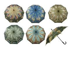 Paraplu automatisch 100 cm CITIES houtlook greep