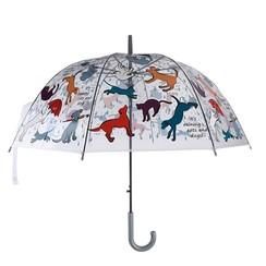 Esschert Design Paraplu transparant It's raining cats & dogs Ø83cm