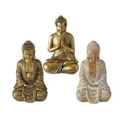 Boltze Home Figuur Jarven Buddha polyresin H10cm goud