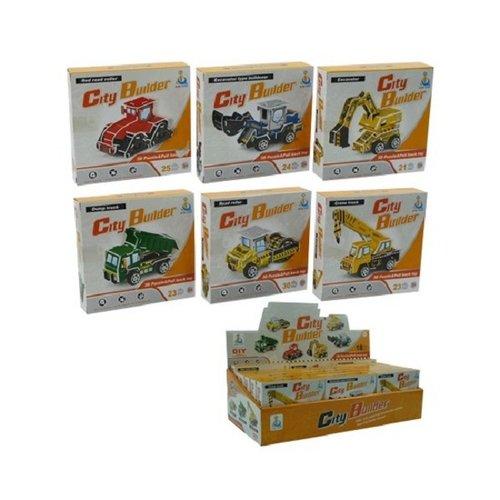 Bouwvoertuigen mini verkrijgbaar in 6 verschillende modellen