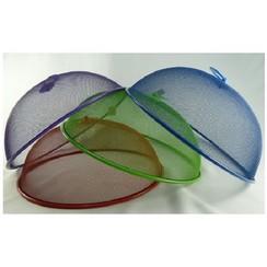 Vliegenafdekkapje van metaalgaas rond 30cm assorti kleur