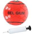 Voetbal België maat 5 met pomp in netje