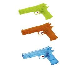 Waterpistool 21 cm model Glock van transparant gekleurd plastic